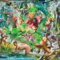 ARTAe 2019. Arno Bojak, Ära-of-Hippiemädchen-240-x-290-cm-Acryl-auf-Nessel-2016