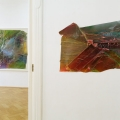 Ansicht Galerie ARTAe Leipzig, 2017. Enrico Niemann: Islands und Contact Face #8